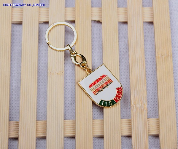 Zinc alloy keychain  withPortugal logo