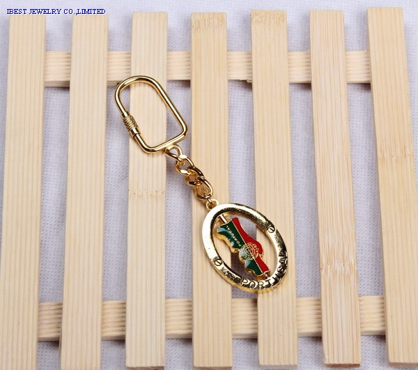 Epoxy keychain withPortugal logo