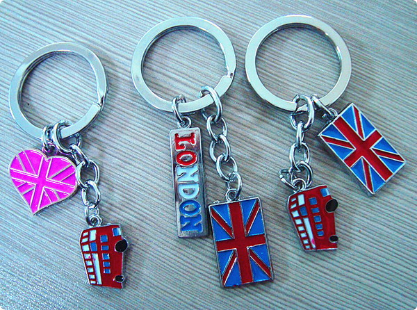 Alloy key ring with LONDON Logo
