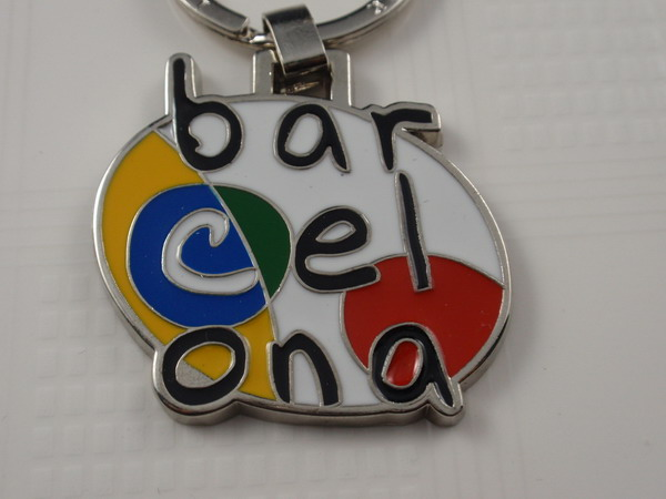 Key chain with color enamel logo