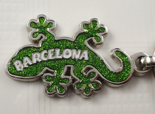 Key chain with Barcelona logo