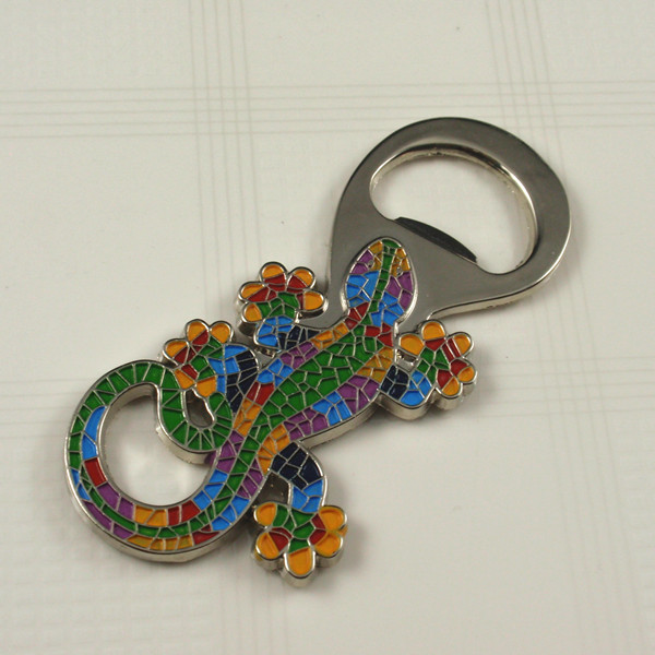 Metal color enamel bottle opener key chain