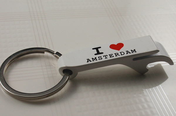 Bottle opener key chain with Amsterdan