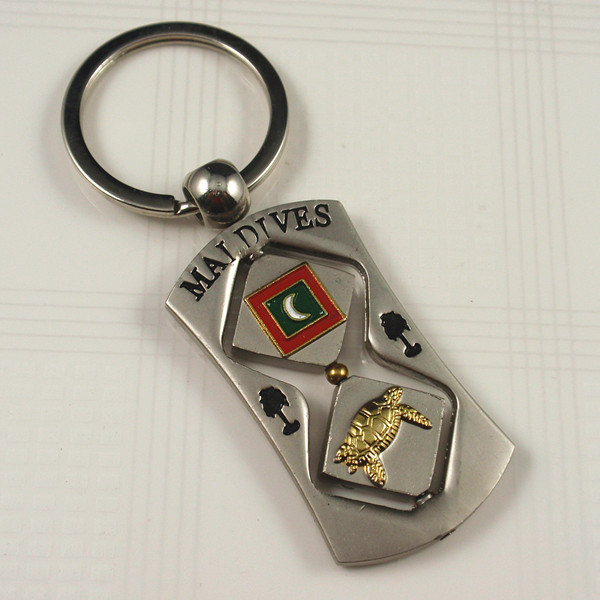 Souvenirs- Rotating Maldives keyrings