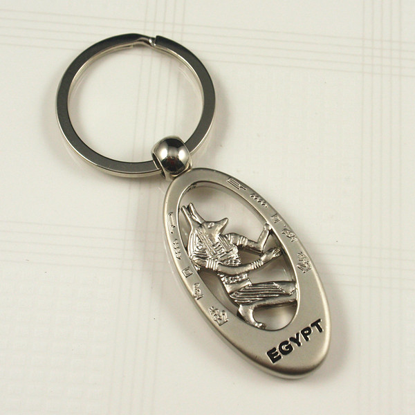 Souvenir- Metal keyring with Egypt