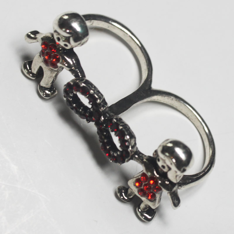 Fashion jewelry -Metal double finger ring