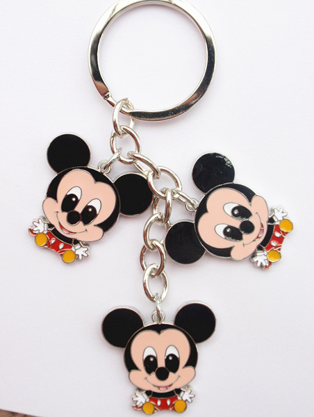 Disney key chain -Color enamel charm keyrings