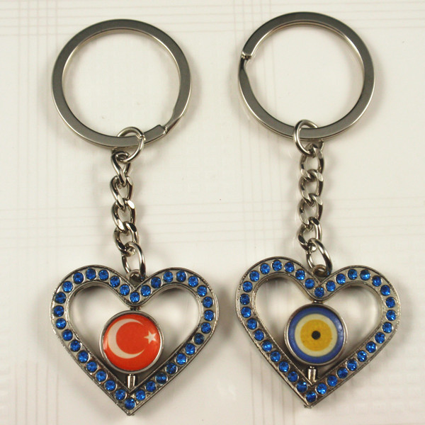Turkey national flag key chain