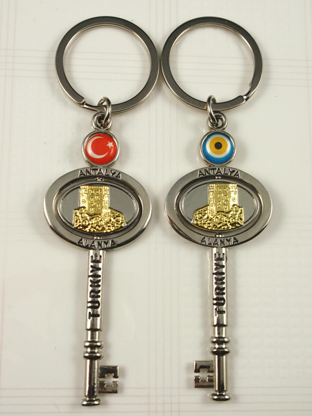 Turkey national flag keychain