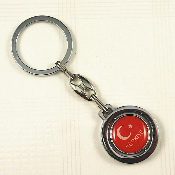 I love Turkey rotating keychain