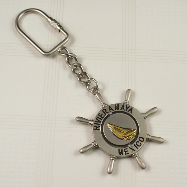 Metal keyring with Mexico keyring