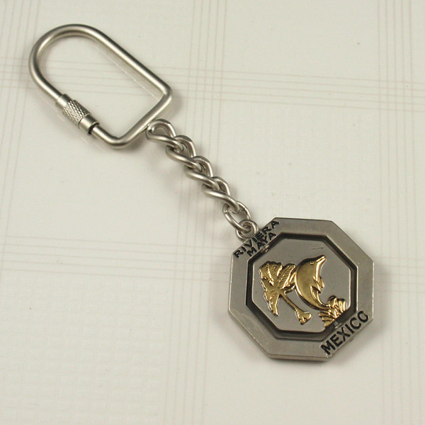 Metal keyring with Mexico key ring