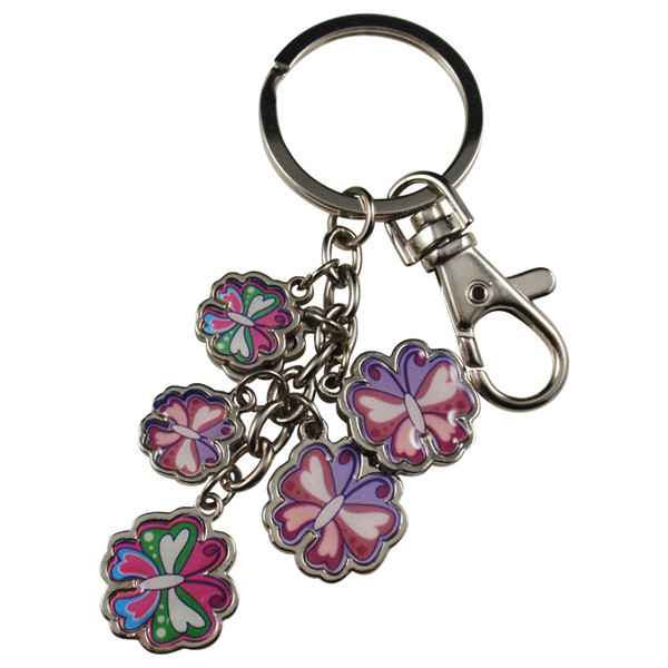 Epoxy sticker metal key chain