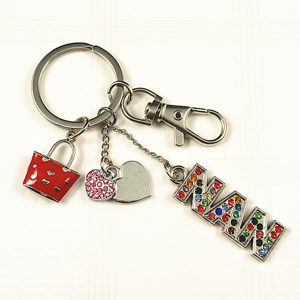 Crystal NAN word key chain