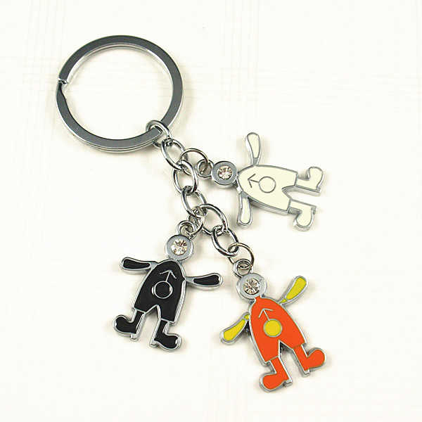 Zinc alloy charm color enamel key chain