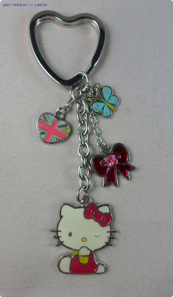 HELLO KITTY color eamel  keychain