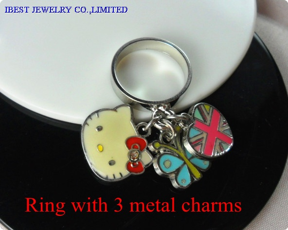 Hello Kitty zinc alloy ring