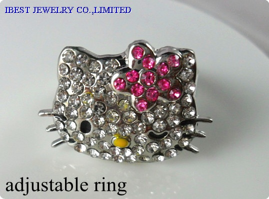 Hello Kitty rhinestones  ring