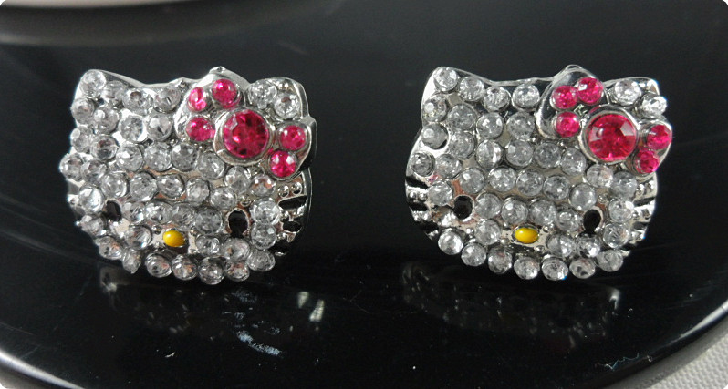Rhinestone Hello kitty earring