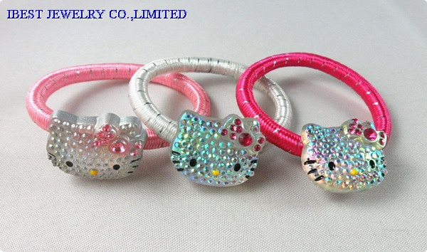Hello Kitty plastic hair rope set