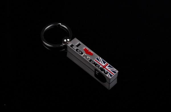 London style bottle opener keychain