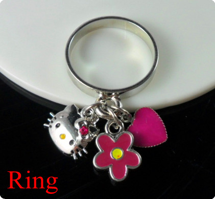 Zinc alloy Hello kitty ring